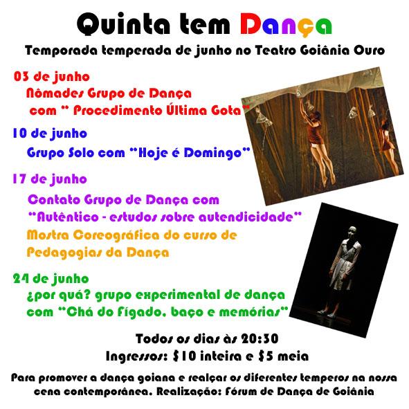 flyer Quinta tem Dança / Divulgação