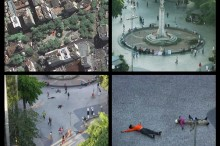 Coreografia para prédios, pedestres e pombos / Foto: Alexandre Antunes