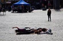 Performance na rua / Foto: André Austvoll