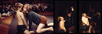 Dionysus 69: na esquerda, Pentheus William Shephard confrontado por Dionysus, William Finley / Foto: