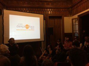 Conversa com Alexandre Veras em uma das salas de exibição da MIV, na abertura do festival.
